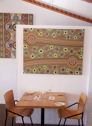 Jaaning Tree Restaurant Pic 2 - local artwork on display