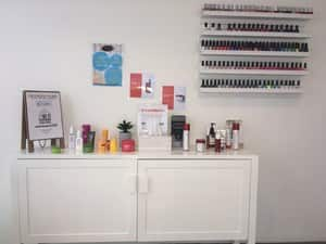 The Sanctuary Day Spa Pic 4 - Our Tester Bar and Nail Polish Station