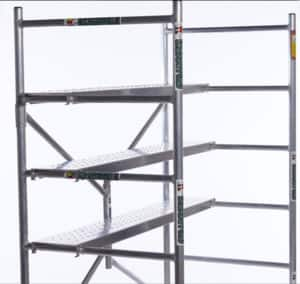 Dr. Safety Hardware Pic 3 - 6 feet Lite Fold Aluminium Mobile Scaffold