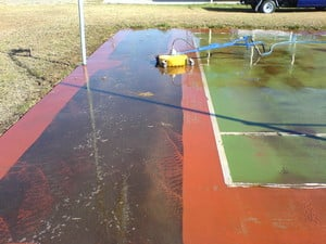 Reclean Roof Cleaning Pic 4 - Tennis Courts Pressure Cleaned