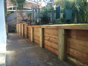 shaun savage landscapes Pic 5 - Sleeper Retaining wall Bayview