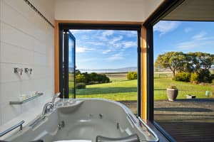 Coastal View Cabins Pic 2 - View from Luxury Spa Bath