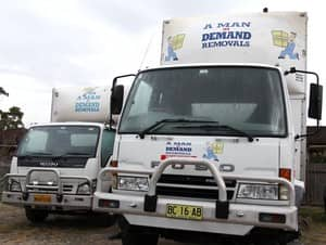 A Man In Demand Removals Pic 2 - A Man In Demand has a fleet of eight various sized trucks small medium and large