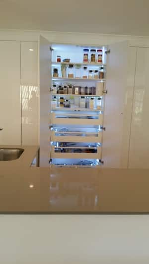 Tranne A.C.Interiors Pic 3 - Pantry with LED lights and inner draws