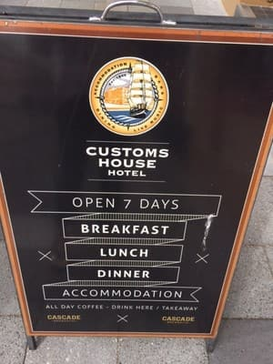 Customs House Waterfront Hotel Pic 4 - Custom House sign