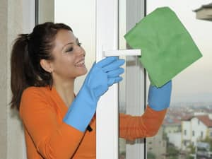 Maid2Match Pic 4 - Diana cleaning a window Squeaky clean