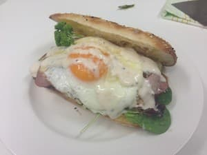 Cinnamon cafe & restaurant Pic 4 - Yumm Chicken caeser salad on toasted Turkish bread cooked by kerrie Kerrie