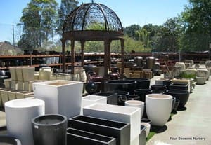 Four Seasons Nursery & Garden Centre Pic 4 - We stock pots in a large range of sizes from little table top pots to pots big enough to take a bath in