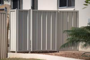 Darwin Fencing And Fabrication Pic 5 - Stratco Cyclonic Good Neighbour Fencing is as tough as it is attractive Clean uncluttered lines are available for neighbours on both sides of the fence