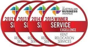 Kent Removals & Storage Pic 3 - Service excellence award winner Australian Business Awards