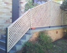 David Webber Handyman - Property Maintenance Pic 5 - Lattice To Stairs Patio