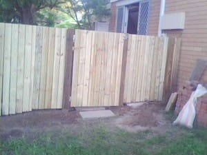 David Webber Handyman - Property Maintenance Pic 4 - Timber Fence and Metal Framed Gate