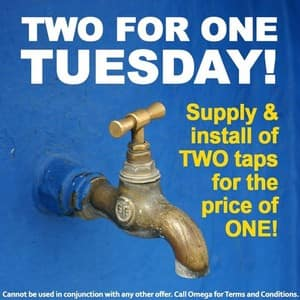 Omega Services Pic 5 - Get an Omega plumber to install two taps for the price of one All suburbs in the Sydney metro area