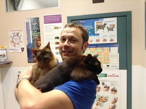 Bayswater Vet Clinic Pic 5 - Two of our little patients chilling out having a cuddle