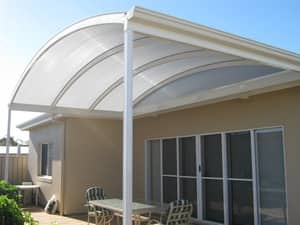 SA Quality Home Improvements Pic 3 - Colorbond Curved Verandah with Twinwall Polycarbonate Roofing