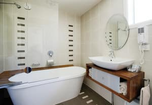 Willows Motel Goulburn Pic 5 - Executive Two Room Suite Bathroom