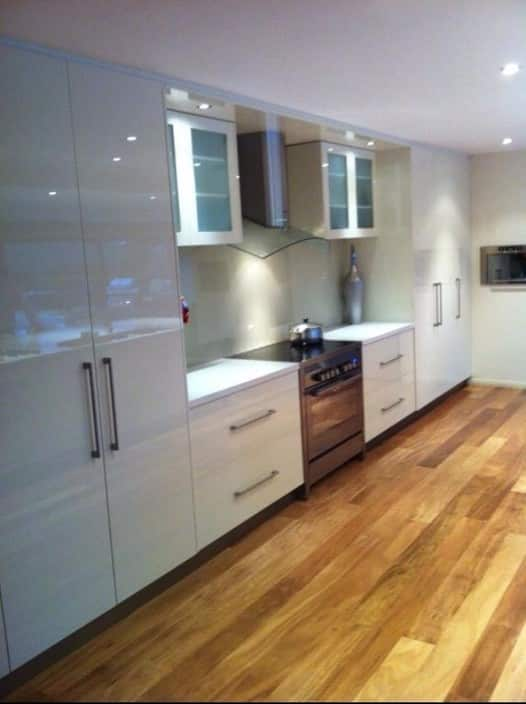 FineForm Joinery Pic 1 - Polyurethane Kitchen with 40mm Stone Benchtop