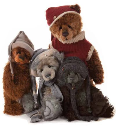 Nana's Teddies & Toys Pic 1 - We have collectable bears in all shapes and sizes including these fabulous fellow from Charlie Bears