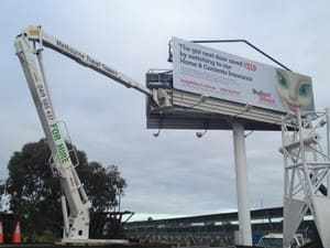 Cherry Picker Hire Pic 5 - Cherry Picker Hire for Signs and Banners