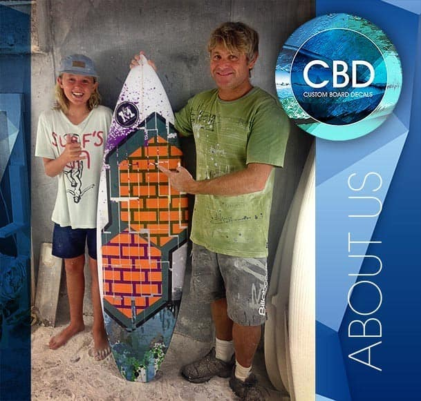 Custom Surfboard Decals In Redhead Nsw Surf School
