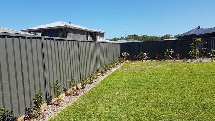 4 Ever Fencing & Retaining Pic 1 - 1800 Colorbond Fence with Treated Pine Sleeper
