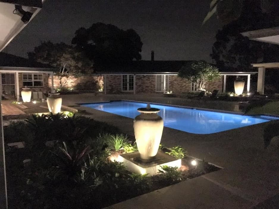 B Powered Electrical Services Pty Ltd Pic 1 - Garden and deck lighting at a prestigious home in Kenthurst