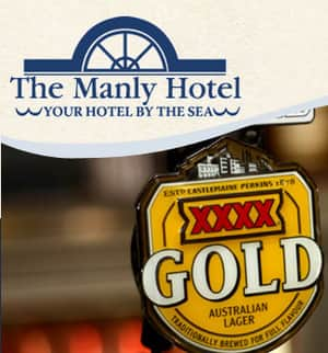 The Manly Hotel Pic 2 - The Manly Hotel enjoy a refreshing XXXX on Manly Harbour