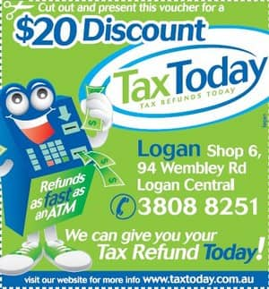 Tax Today Brisbane Pic 3 - 20 off your tax return