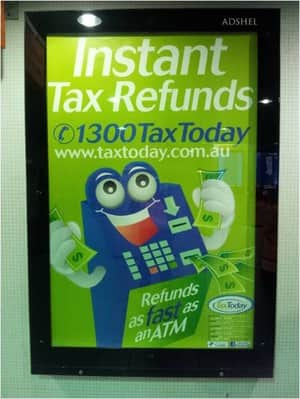 Tax Today Brisbane Pic 4 - An ad at Central Station Sydney