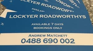 Lockyer Roadworthys Pic 4 - Lockyear Roadworthys Total Mobile Solution