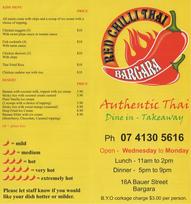 Red Chilli Thai Bargara Pic 1