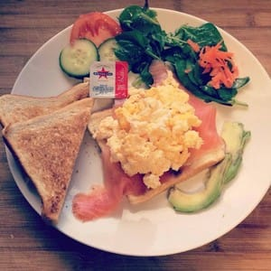2 Cafe Pic 4 - Smoked Salmon Scrambled Eggs on Toast
