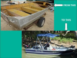 Aqua Steel Industries Pic 5 - Stockists of Fishing and Marine equipment and accessories We can help you transform your old boat with spectacular results