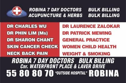 Robina 7 Day Doctors Pic 1 - Robina 7 Day Doctors Bulk Billing Medical Centre