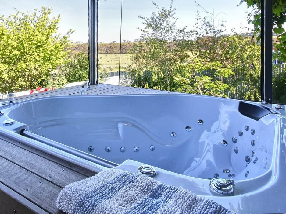 Welcome Springs Remedial Massage And B&b Accommodation Pic 1 - Hydro Spa Bath on Alfresco deck