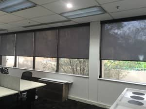 BMC Commercial Solutions Pic 2 - Internal roller blinds office fit out Strathfield NSW