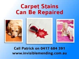 Invisible Mending Sydney Carpet Repair Pic 3 - Repair carpet stains that cant be cleaned Carpet burns pet stains water damage Sydney carpet repairs can make your carpet look almost new