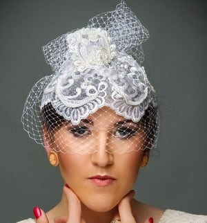 House of Balsam Millinery Pic 2 - Hand beaded bridal bird cage