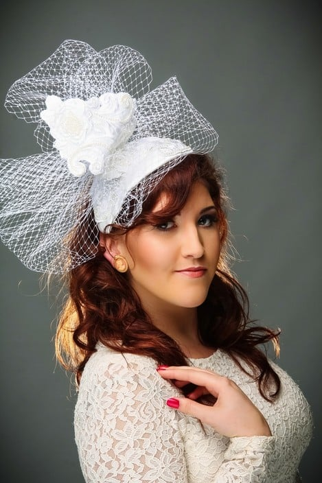 House of Balsam Millinery Pic 1 - Hand beaded bridal head piece