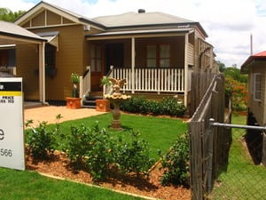 Grass Roots Landscape Gardening Pic 5 - Landscaped front yard at Norman Park