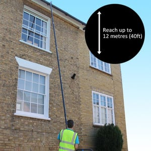 Master-vac gutter Cleaning Service Pic 2 - clean your gutter just from the ground