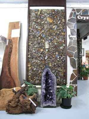 Opal Auctions Pic 2 - Opal wall made 1978 now water feature