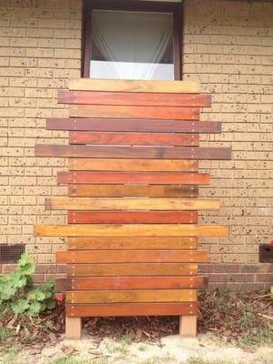 PT Building & Carpentry Pic 4 - mixed Australian hard wood screen