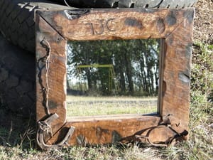 N & J Small Engines & Rustic Works Pic 2 - Western style rustic mirrors
