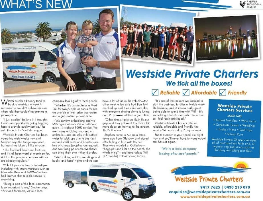 Westside Private Charters Pic 1 - Westside Private Charters in the news