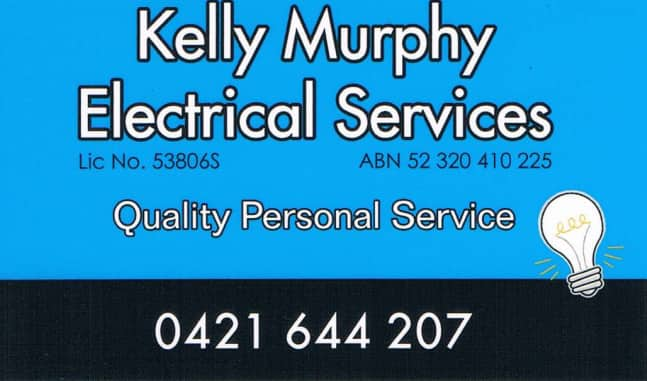 Kelly Murphy Electrical Services Pic 1 - business card