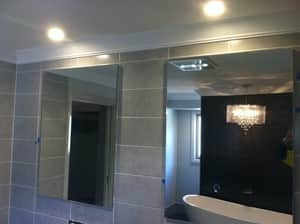 TSJ Electrical Pic 3 - Installation of down lights in bathroom