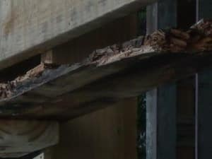 Leigh Kershaw Homes Pic 2 - This is what happens when the builder uses indoor timber to build an outdoor deck