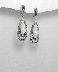 love-it-jewellery.com.au Pic 5 - Silver and Cubic Zirconia Earrings