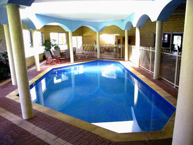 Inn The Tuarts Guest Lodge Pic 1 - Cool indoor pool with heated Jacuzzi sauna and BBQ area